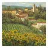 Provencal Village IV Premium Giclée-tryk af Michael Longo