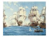 The Battle of Trafalgar Giclee-tryk i høj kvalitet af Montague Dawson