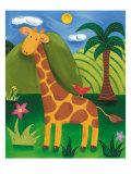 Gerry the Giraffe Premium Giclee Print by Sophie Harding
