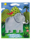 Nellie the Elephant Premium Giclee Print by Sophie Harding