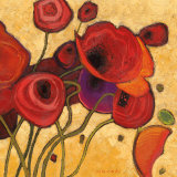 Poppies Wildly II Posters par Shirley Novak