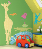 Animal Silhouettes - Colors Wall Decal