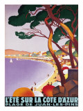 Der Sommer an der Cote d'Azur Giclée-Premiumdruck von Roger Broders