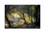 The Deer Park Giclee Print by Carl Frederic Aagaard