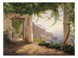 Amalfi, convento de Capuchinos Lámina giclée por Carl Frederic Aagaard