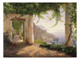 Amalfi, convento dei Cappuccini Stampa giclée premium di Carl Frederic Aagaard