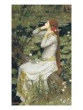 Ophelia Giclee-tryk i høj kvalitet af John William Waterhouse