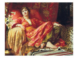 Leila, 1892 Wydruk giclee premium autor Frank Bernard Dicksee