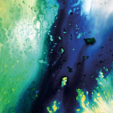 Blue and Green Flowing Abstract, c. 2008 Premium Giclee Print by Pier Mahieu