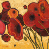 Poppies Wildly I Posters by Shirley Novak