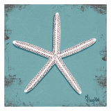 Distressed Seashells: Starfish II Art par Melody Hogan