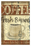 Rustic Coffee, Fresh brewed Affiches par Grace Pullen