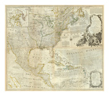 Composite: North America, c.1776 Prints by Thomas Jefferys