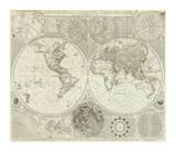 Composite: World or Terraqueous Globe, c.1787 Prints by Samuel Dunn
