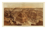 Grand Canyon: Panorama from Point Sublime (Part I. Looking East), c.1882 Prints by William Henry Holmes