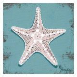 Distressed Seashells: Starfish I Affiches par Melody Hogan