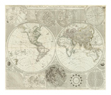 Composite: World or Terraqueous Globe, c.1787 Posters by Samuel Dunn
