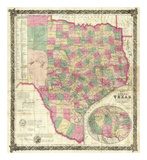 The State of Texas, c.1867 Prints by Jacob De Cordova