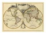 Mappemonde, c.1782 Posters by Jean Janvier