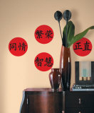 Chinese Virtues Wall Decal