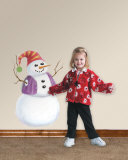 Build Your Own Snowman Wall Decal