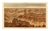 Grand Canyon: Panorama from Point Sublime (Part II. Looking South), c.1882 Posters by William Henry Holmes