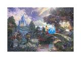 Cenicienta pide un deseo en un sueño Cinderella Wishes Upon a Dream Pósters por Thomas Kinkade