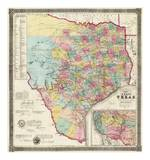 The State of Texas, c.1856 Posters by Jacob De Cordova