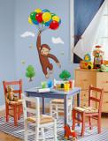 Meraklı Maymun - Duvar Çıkartması