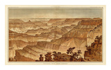 Grand Canyon: Panorama from Point Sublime (Part III. Looking West), c.1882 Art by William Henry Holmes