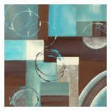 Circles on Squares II Posters by Maria Girardi