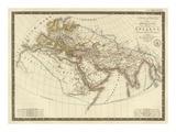 Monde Connu des Anciens, c.1821 Prints by Adrien Hubert Brue
