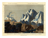 Comparative Height of the Principal Mountains in the World, c.1823 Psters por Fielding Lucas