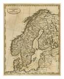 Sweden, Norway, c.1812 Posters af Aaron Arrowsmith