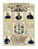 The National Political Chart, Civil War, c.1861 Poster von H. H. Lloyd