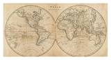 The World, c.1825 Posters by Mathew Carey