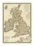 Iles Britanniques, c.1828 Prints by Adrien Hubert Brue