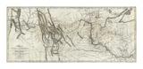 Mapa de Lewis y Clark's Track, Across del Oeste Portion de América del Norte, c.1814 Lámina por Lewis & Clark