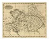 Austrian Dominions, c.1812 Print by Aaron Arrowsmith