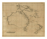 Australasia, c.1812 Posters by Aaron Arrowsmith