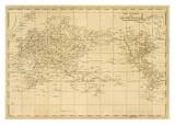 World Mercator's Projection, c.1812 Posters par Aaron Arrowsmith