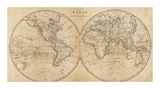 The World, c.1825 Prints by Mathew Carey