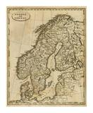 Sweden, Norway, c.1812 Posters by Aaron Arrowsmith