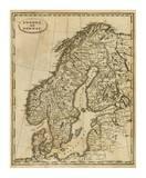 Sweden, Norway, c.1812 Posters by Aaron Arrowsmith