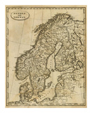 Sweden, Norway, c.1812 Poster af Aaron Arrowsmith