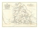 Civil War Map of the Field of Shiloh, Near Pittsburgh Landing, Tennessee, c.1862 Posters by Otto H. Matz
