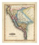 Peru, c.1823 Plakat autor Fielding Lucas