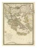 Grece Ancienne et de la Mer Egee, c.1827 Prints by Adrien Hubert Brue