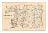 Connecticut: Hartford County North, c.1893 Prints
