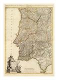 Composite: Portugal, Algarve, c.1780 Prints by Giovanni Antonio Bartolomeo Rizzi Zannoni